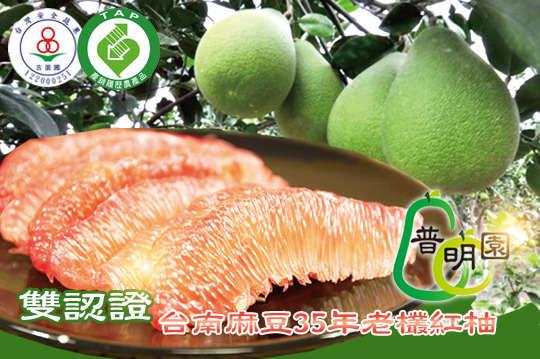 每斤只要73元起,即可享有《預購》【普明園】雙認證-台南麻豆35年老欉紅柚〈5斤/10斤/15斤/20斤/40斤〉