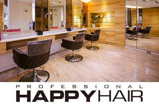 只要699元起,即可享有【HAPPYHAIR(台中北平店)】A.加拿大迷你護髮+設計剪髮 / B.伊聖詩雙效奇肌HairSpa / C.專業質感(燙/染)髮 二選一+加拿大迷你護髮