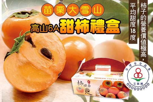 只要520元起,即可享有《預購》【苗栗大雪山】吉園圃-高山6A甜柿禮盒6入裝/18入裝〈一盒/二盒/四盒〉