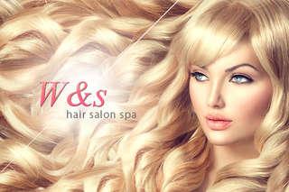 只要288元起,即可享有【W&s hair salon spa】A.質感設計洗剪養護專案 / B.浪漫春意盎然造型變髮專案