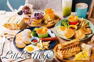 只要69元,即可享有【LittLe MyO】平假日可抵用100元消費金額〈特別推薦:MyO輕晨食光B餐、MyO輕晨食光D餐、起司堅果三重奏、蘿勒乳酪鮭魚、藍莓優格鬆餅、抹茶拿鐵、拿鐵咖啡〉
