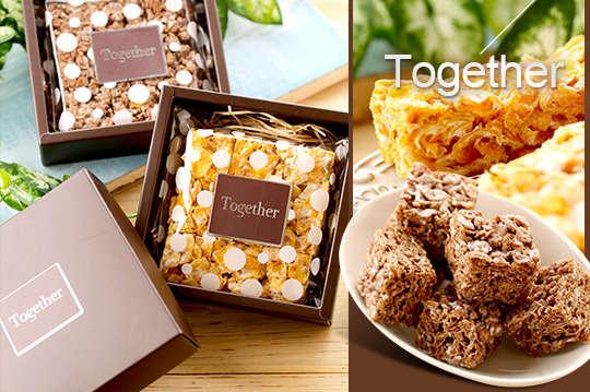 只要88元起,即可享有【Together】A.棉花糖玉米片在一起禮盒(原味)一盒 / B.棉花糖玉米片在一起禮盒(巧克力)一盒 / C.棉花糖玉米片在一起禮盒(原味)一盒+(巧克力)一盒