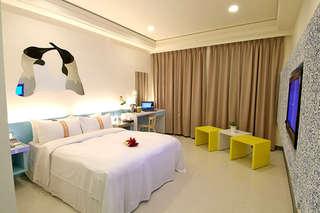 只要1580元,即可享有【台北-賓王時尚旅店 KING PLAZA HOTEL】時尚設計輕旅行〈含(精緻雙人房/樂活雙床房)住宿一晚 + 自助式早餐二客 + 美麗華摩天輪門票二張〉特別優惠:週五入住不加價