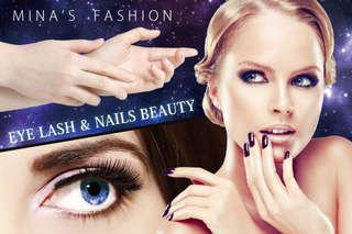【米娜時尚美甲美睫】時尚迷人6D山茶花美睫嫁接,讓雙眼睫毛不僅纖長更濃密自然!香氛深層手部保養搭配美美造型凝膠美甲,打造超值晶透的華麗指尖!