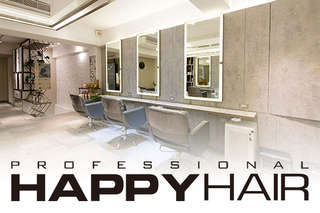 只要499元起,即可享有【HAPPYHAIR(雙和店)、(新北復興店)】A.加拿大角蛋白迷你護髮+設計剪髮 / B.伊聖詩雙效奇肌HairSpa / C.專業質感染/燙髮 二選一