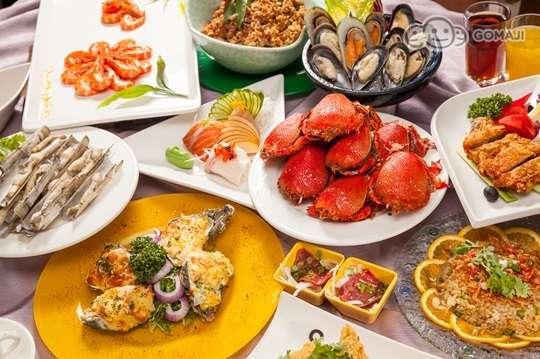 熟食海鲜自助实拍图片