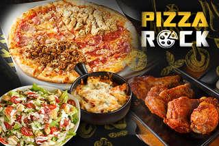 只要198元,即可享有【Pizza Rock(新莊店)】平假日可抵用300元消費金額〈特別推薦:義式青醬雞肉帕尼尼、凱薩沙拉、香烤小翅腿、布朗尼香草冰淇淋、紅醬蘑菇花椰焗烤、白醬蝦仁蘑菇焗烤〉