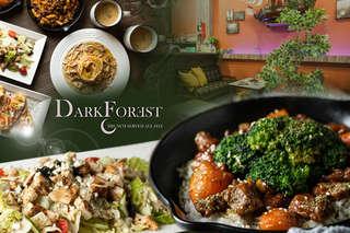 只要650元起,即可享有【Dark Forest 森夜餐廳】A.Love Love雙人異國套餐 / B.三五好友四人麻吉分享套餐