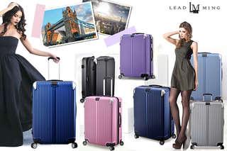 只要1390元起,即可享有【Leadming】城市線條-美國TSA密碼鎖可加大行李箱(尺寸:20吋/24吋/28吋)等組合,顏色可選:藏青/粉紫/鐵灰/珊瑚粉/冰藍/銀色,皆加贈透明箱套(S/M/L號)