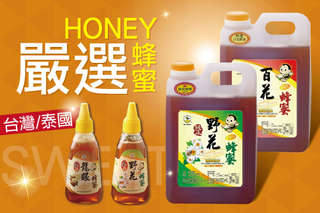 只要290元起,即可享有獨家專案【蜂蜜世界】台灣泰國嚴選蜂蜜(500g/1800g)等組合