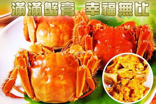 每隻只要175元起,即可享有江南鮮活大閘蟹(4兩)〈4隻/8隻/10隻/20隻/30隻/40隻〉