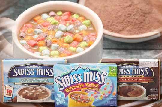 每盒只要129元起,即可享有美國進口【SWISS MISS】大盒裝〈任選一盒/四盒/八盒,口味可選:濃情棉花糖熱可可粉(272g/盒)/熱可可粉黑巧克力(283g/盒)/彩色棉花糖牛奶巧克力粉(272g/盒)〉