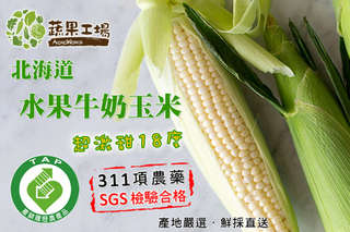 每入只要37元起,即可享有日本北海道品種-水果牛奶玉米〈10入/20入/30入/60入〉