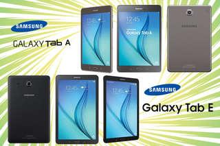 只要3880元起,即可享有【Samsung】Galaxy Tab E/A 8吋平板電腦1入(福利品),顏色:黑,A方案每入贈果凍套1入 + 鋼化膜1入,B方案每入贈鋼化膜1入