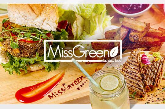 只要98元起,即可享有【Miss Green 美式蔬食餐廳】A.繽紛樂活招牌飲品 / B.經典Miss Green招牌套餐 / C.超人氣蔬食漢堡套餐