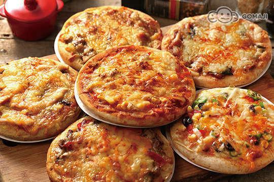 每片只要57元起(免運費),即可享有【手作pizza】餅皮純手作六吋披薩〈6片/16片/26片/36片,口味可選:超級夏威夷/德式香腸/小豬花生/鄉村野宴(素)/綠野仙踨(素)/田園燻雞蘑菇/海鮮總匯/手工佛卡夏(附肉醬)/醬爆牛/泡菜豬〉