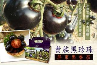 每台斤只要188元起,即可享有貴族黑珍珠-屏東黑番茄〈3台斤/6台斤/12台斤/18台斤〉