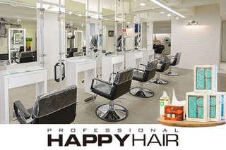 只要499元起,即可享有【HAPPYHAIR(師大店)】A.時尚造型剪髮 / B.伊聖詩雙效奇肌HAIR SPA / C.質感染髮 / D.日系曲線燙髮 / E.日本TM時光奇蹟護髮