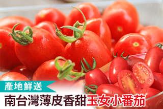 每盒只要169元起,即可享有南台灣薄皮香甜玉女小番茄〈一盒/二盒/三盒/五盒/十盒〉