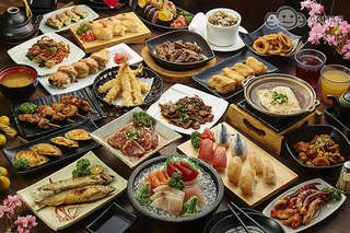 只要395元起,即可享有【松江庭】單人平日A.午餐日式精緻料理A餐吃到飽/B.午晚餐日式精緻料理B餐吃到飽