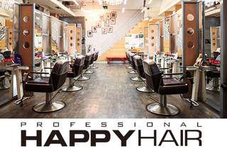 只要699元起,即可享有【HAPPYHAIR(台中學士店)】A.德國護髮+設計剪髮 / B.伊聖詩雙效奇肌Hair Spa / C.(專業質感染髮/燙髮 二選一)+德國護髮