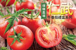 每台斤只要63元起,即可享有【璞臻農場】高雄仁武-牛番茄禮盒5台斤/10台斤/20台斤等組合