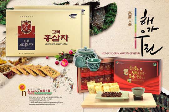 只要288元起,即可享有韓國原裝進口高麗紅蔘切片/高麗紅蔘茶等組合