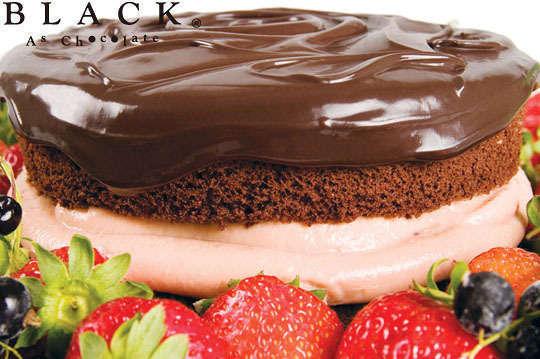 只要299元,即可享有【Black As Chocolate】A.經典巧克力蛋糕一個 / B.黑嘉侖草莓巧克力蛋糕一個 / C.焦糖香蕉巧克力蛋糕一個