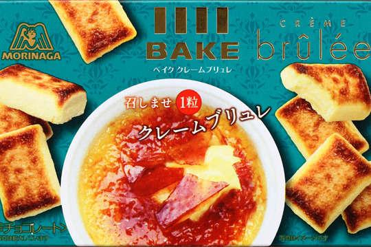 每盒只要70元起,即可享有日本原裝【森永】BAKE濃郁烤布蕾起司餅〈1盒/3盒/6盒/12盒/18盒/24盒〉