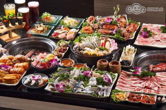 只要599元,即可享有【石頭日式炭火燒肉】平日晚餐、假日午晚餐吃到飽單人餐〈燒烤、日式料理、火鍋吃到飽〉