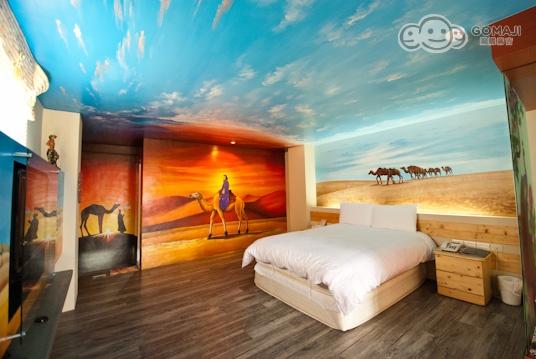 民宿室内手绘透视图