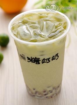 红豆日式抹茶拿铁