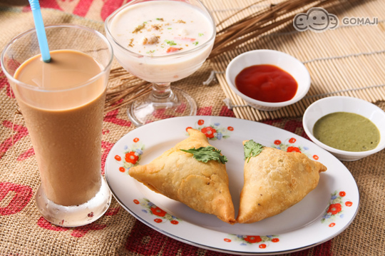 印度美食手绘图片