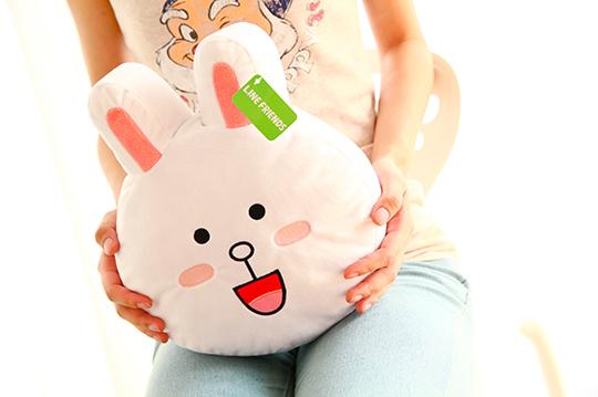 【正版line】熊大/兔兔大脸造型抱枕