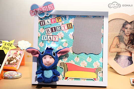 3d立体照片绒毛双公仔相框组    双人的可爱娃娃,可爱度立刻爆表!