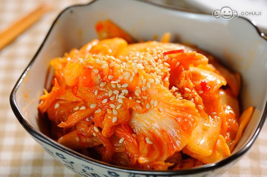 泡菜   包肉生菜