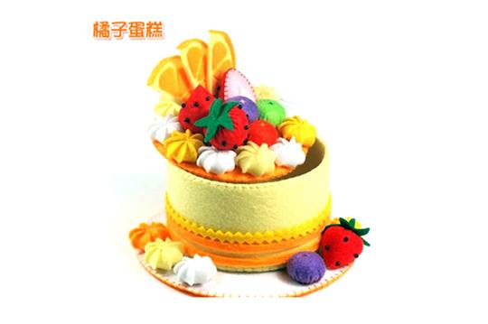 不织布免剪刀手工材料包〈一组/二组/四组,款式可选:a款(橘子蛋糕