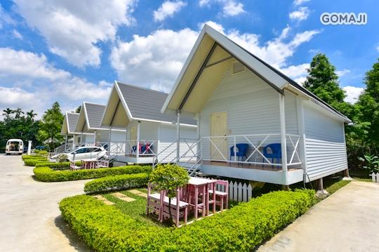 活动房型   欧式小木屋(两大床)      欧风设计庭园小木屋,独立空间