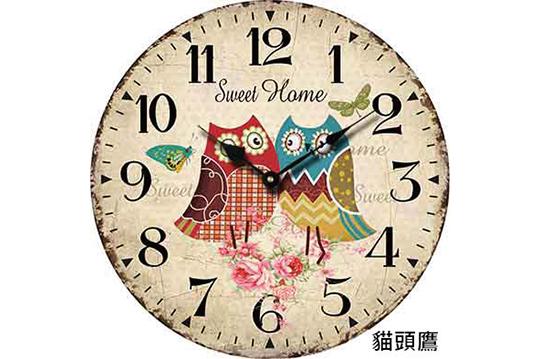 即可享有欧式复古装饰木质挂钟〈一
