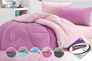 只要587元起,即可享有防蹣抗菌吸濕排汗專利枕/吸濕排汗專利雙色羽絲絨被(3M專利製程)等組合