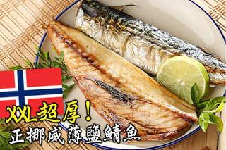 每片只要52元起,即可享有XXL超厚正挪威薄鹽鯖魚〈10片/15片/20片/35片/50片/70片/100片〉