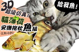 每組只要157元起,即可享有3D超級仿真貓薄荷安撫抱枕魚組〈一組/二組/四組/六組/八組〉