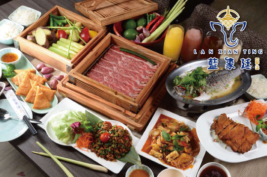 台北松山慶城街【藍象廷泰鍋】(A)雙人泰式火鍋吃到飽-平日午餐、午茶方案